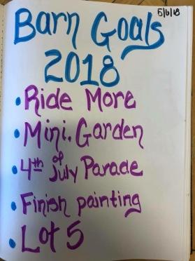 Barn Goals 52018